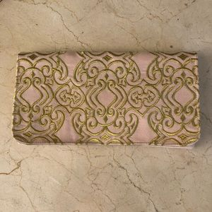 Gold Embroidered Silk Clutch